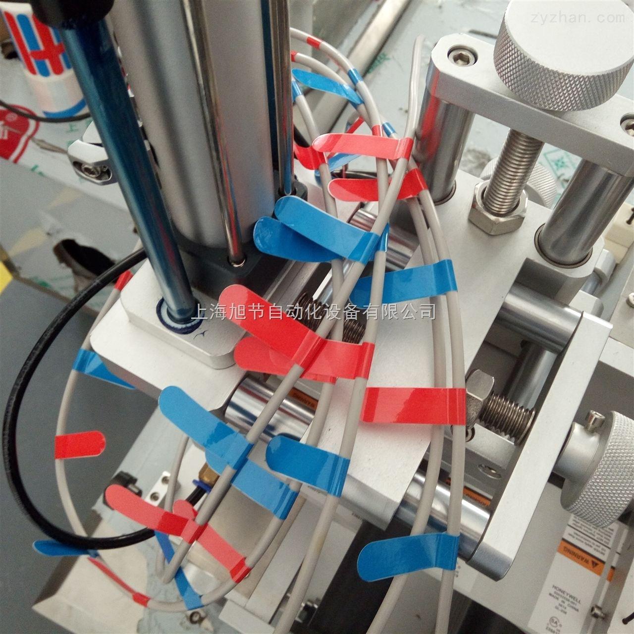 汽车线束对折贴标机 圆管贴对折标签机设备 电线贴标机