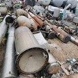 二手两吨三效钛材强制循环蒸发器
