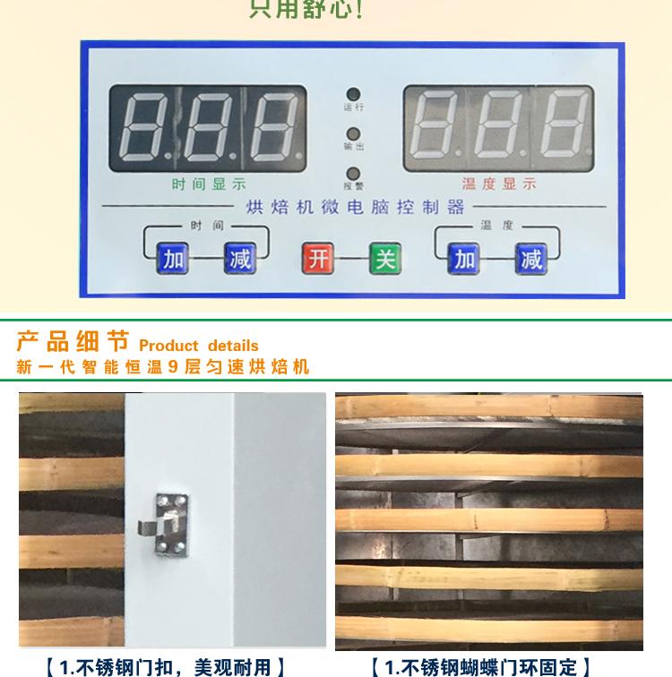 由外壳折板,筛子,热循风板,底部电机,电动机,电路箱等主要零